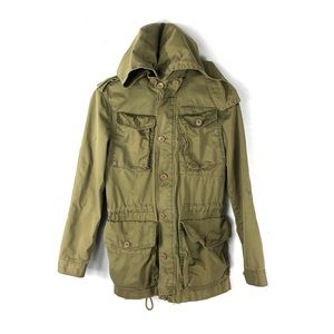 J. Crew jacket chino military hooded classic twill